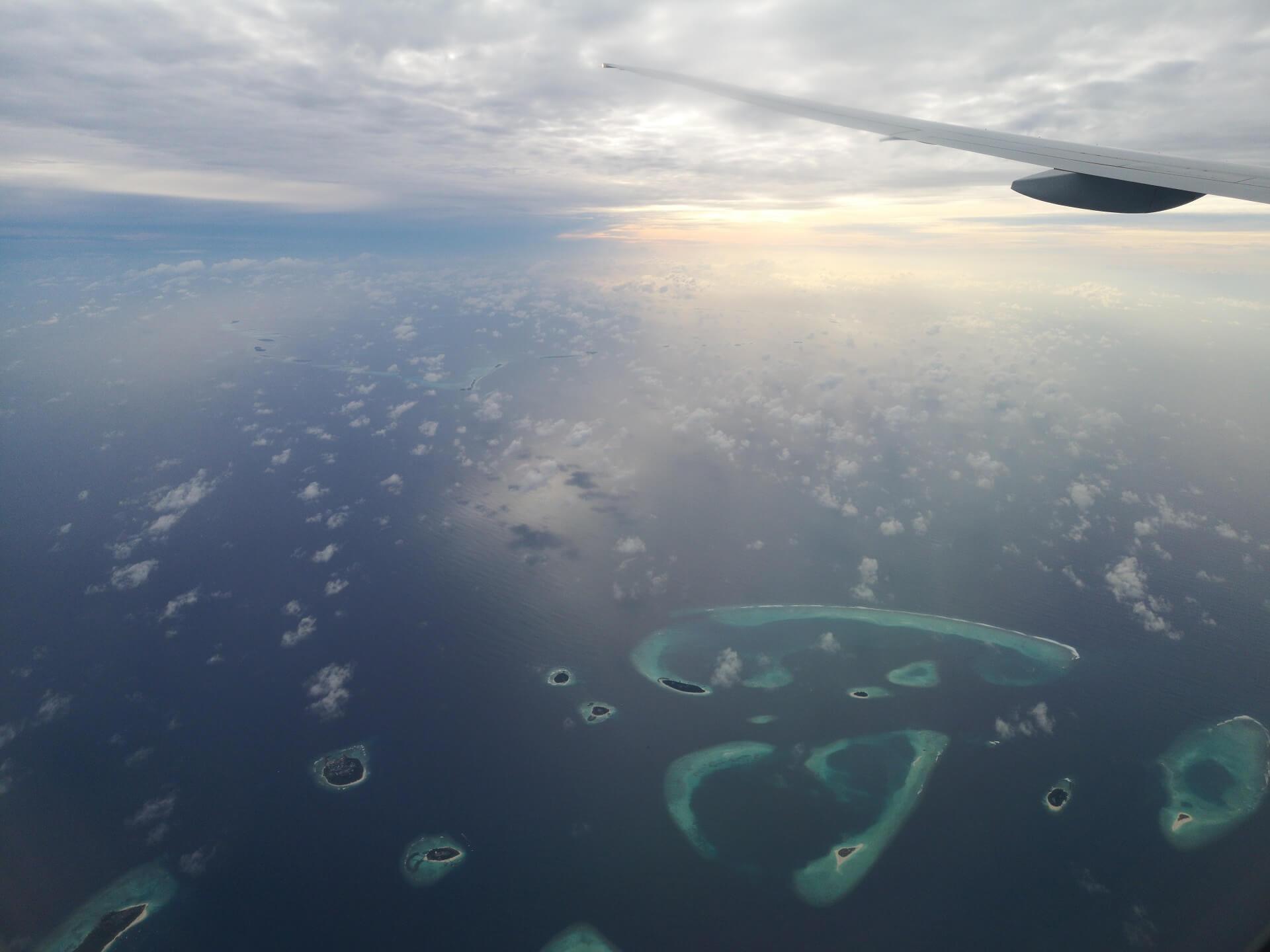 Malediven aus der Luft