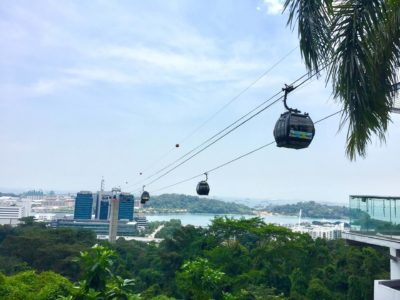 Seilbahn nach Sentosa Island Singapur
