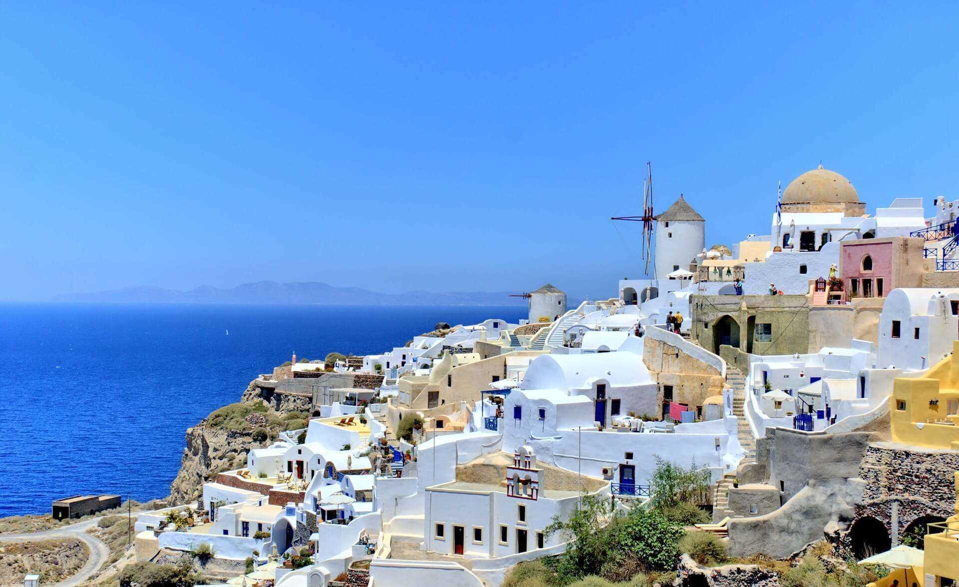 Direktflüge und Billigflüge ab Frankfurt nach Santorini