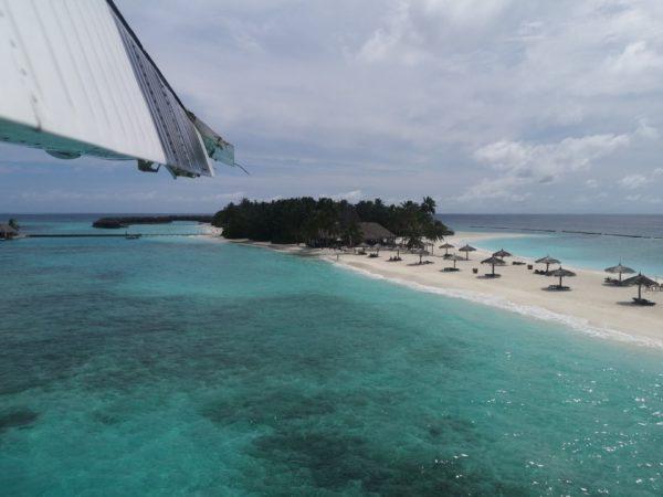 Landeanflug Malediven