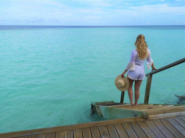 Malediven Wasser Villa Steg