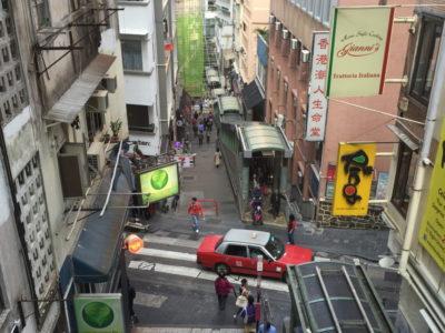 Hong Kong Soho Rolltreppe